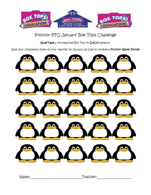 Proctor PTO January Box Top Challenge