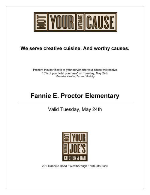 Fannie E. Proctor Certificate
