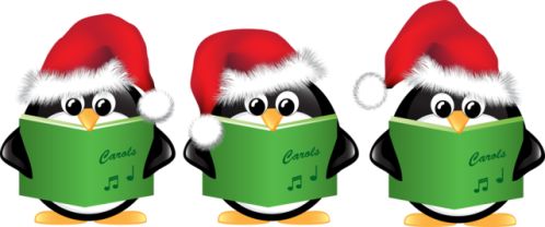 penguin-carolers